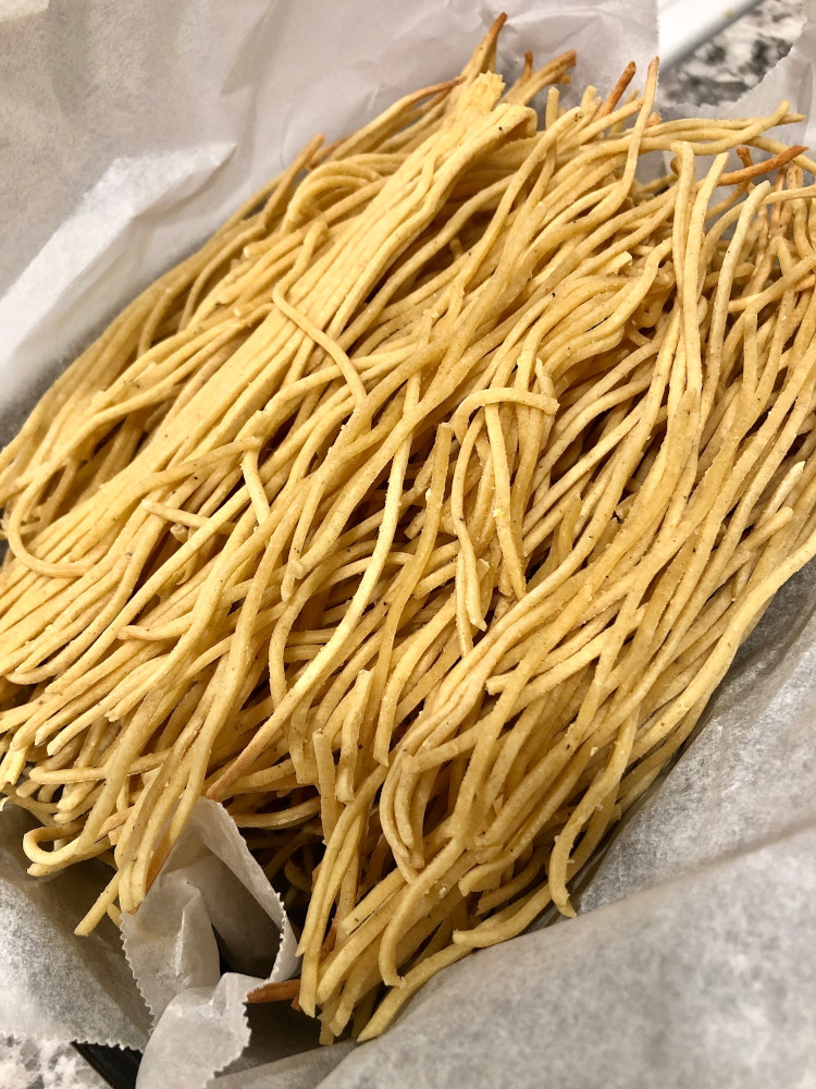 homemade pasta as Christmas gift
