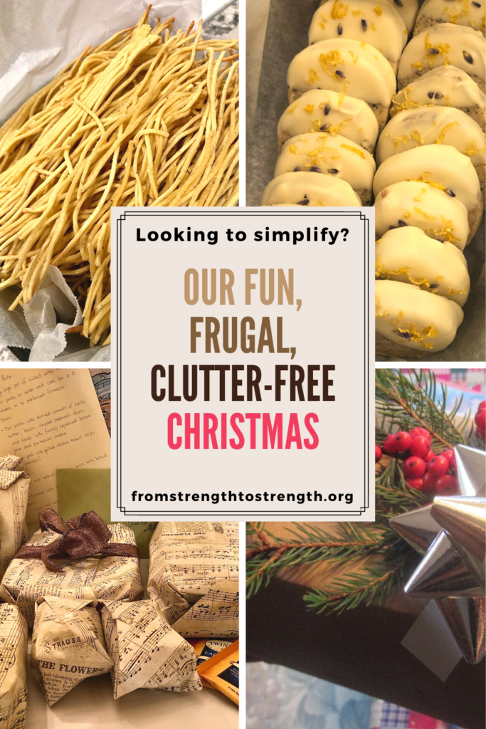 looking to simplify? our fun, frugal, clutter-free christmas