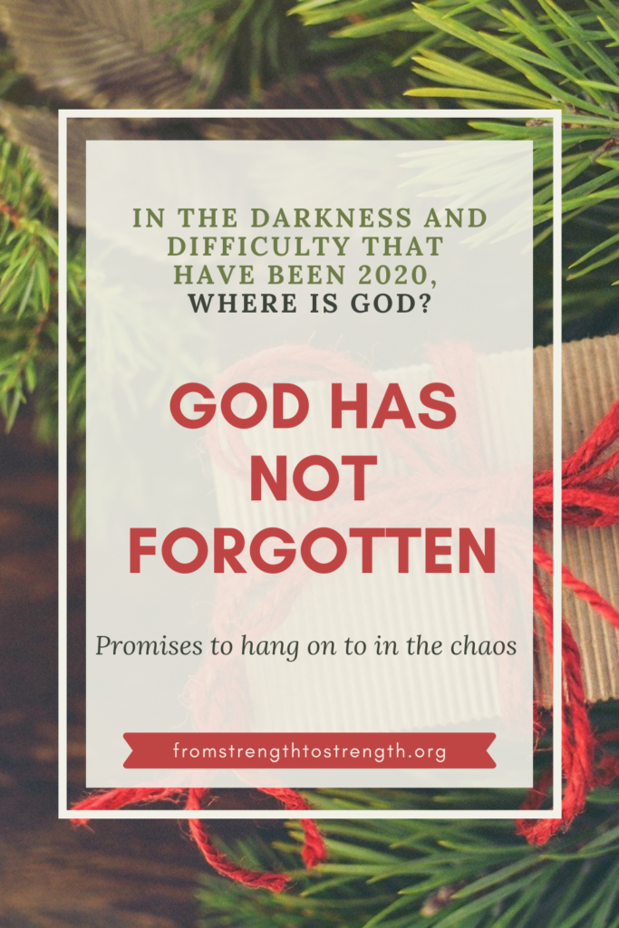 god has not forgotten promises to hang on to in the chaos