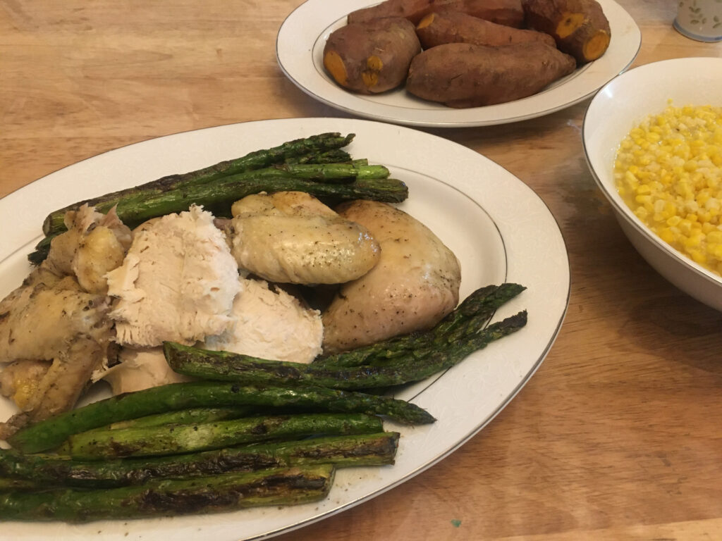 old-fashioned roast chicken easy meal